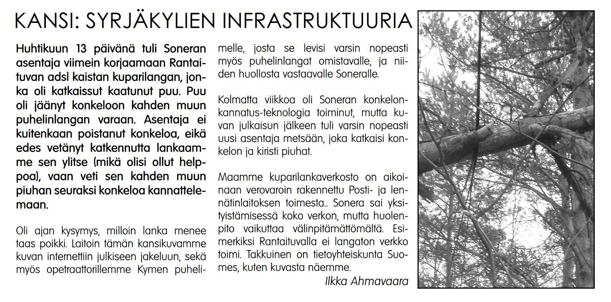 elisa häiriöilmoitus Pietarsaari
