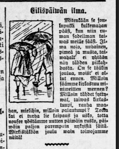 hs 25.12.1910 eilispäivän ilma