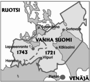 Historiallisen ns. Vanhan Suomen alue. (RT 1/2009, Ilkka Ahmavaara.)