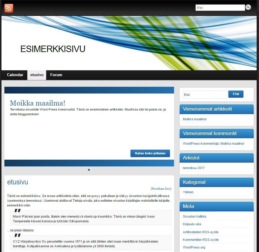 Karun näköinen on sivuston ranka ennen muotoiluja. Tälle samalle rangalle on myös tehty esim. rantai.fi ja koesivusto.org (superviisarin sivu).