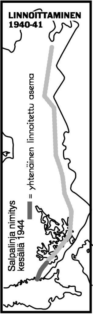 Kartan piirsi Ilkka Ahmavaara Sodan kartat -teoksen mukaan (Weiling+Göös 2003).