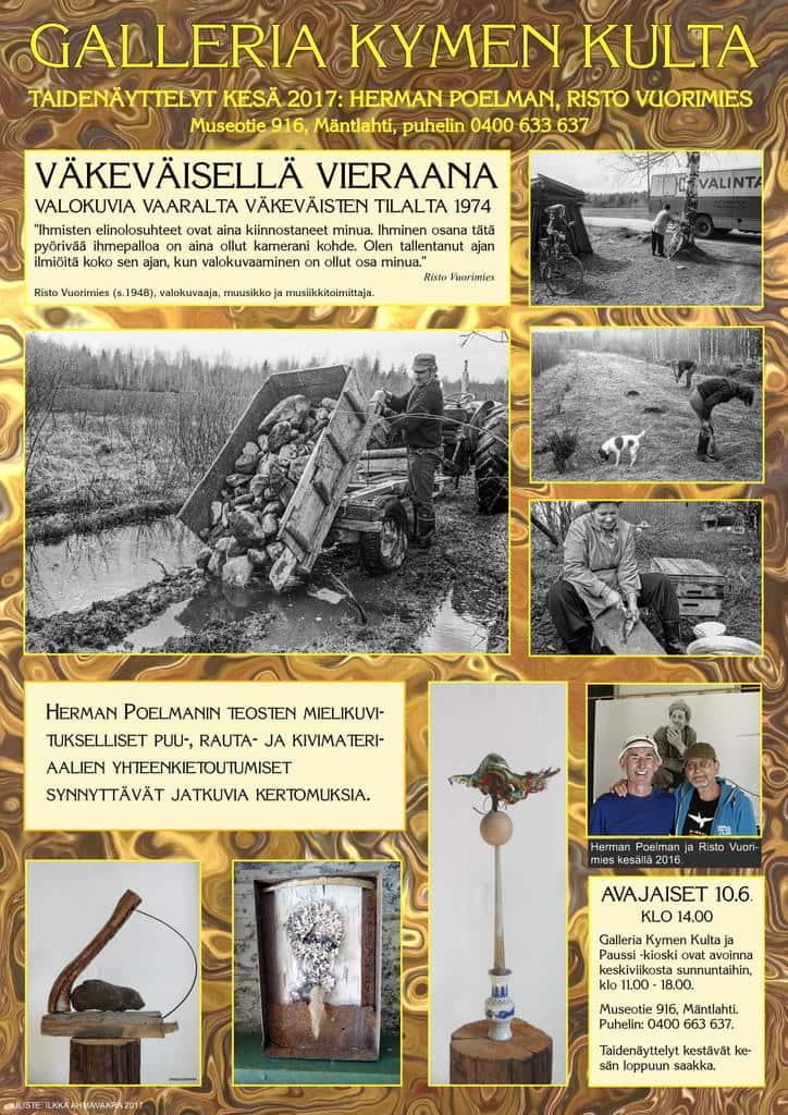 Taidenäyttelyn avajaiset Mäntlahdessa @ Galleria Kymen Kulta ja Paussi kioski