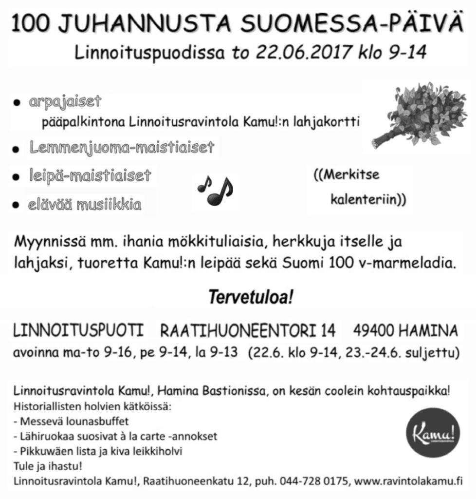 100 Juhannusta Suomessa -päivä @ Linnoituspuoti