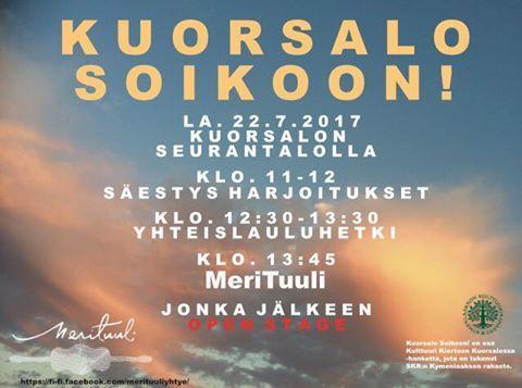 Kuorsalo soikoon! @ Kuorsalon Seurantalo | Suomi