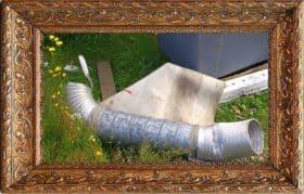 Haavoittunut enkeli. Tekijä tuntematon, valokuva Ilkka Ahmavaara.