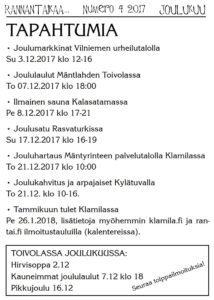 Jouluhartaus palvelutalolla Klamilassa @ Mäntyrinteen palvelutalo | Suomi