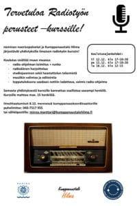 Radiotyön perusteet koulutus yhdistyksille @ Kumppanuustalo Hilma