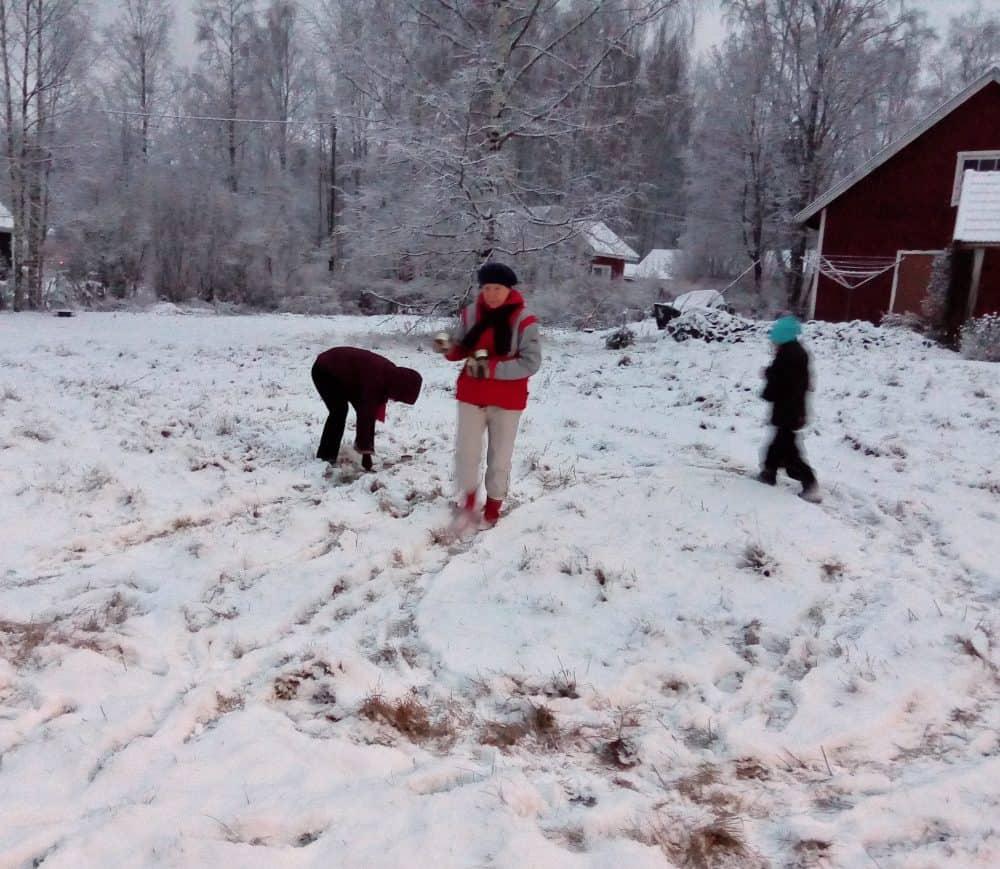 Ensin tallattiin numerot lumeen.