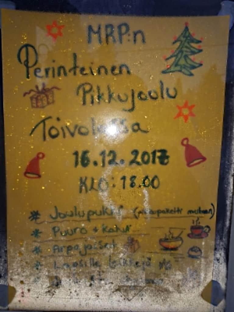 Pikkujoulu Toivolassa @ Seurantalo Toivola | Suomi