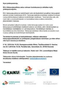 EU:n tietosuojauudistus ja yhdistystoiminta @ Kumppanuustalo Hilma
