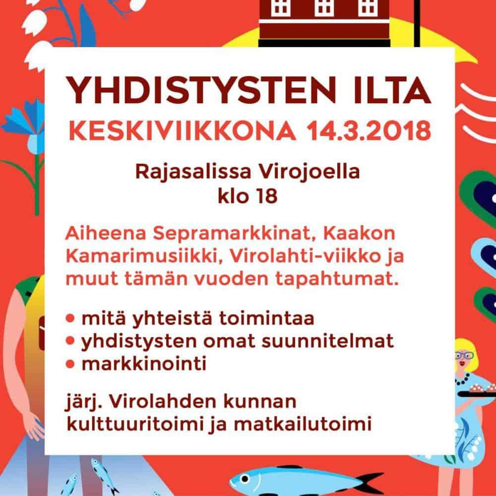 Yhdistysten ilta Virojoella @ Rajasali