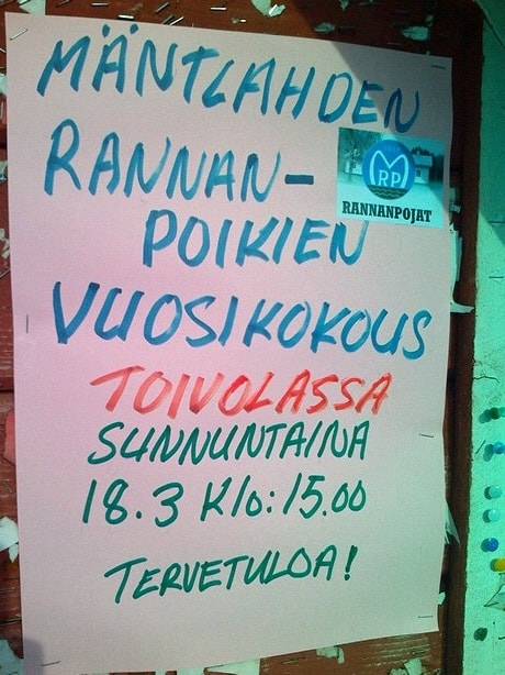 Mäntlahden Rannanpoikien vuosikokous @ Seurantalo Toivola