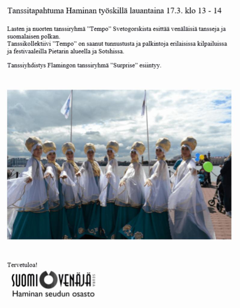 Kaikille avoin Tanssitapahtuma @ Työski Hamina