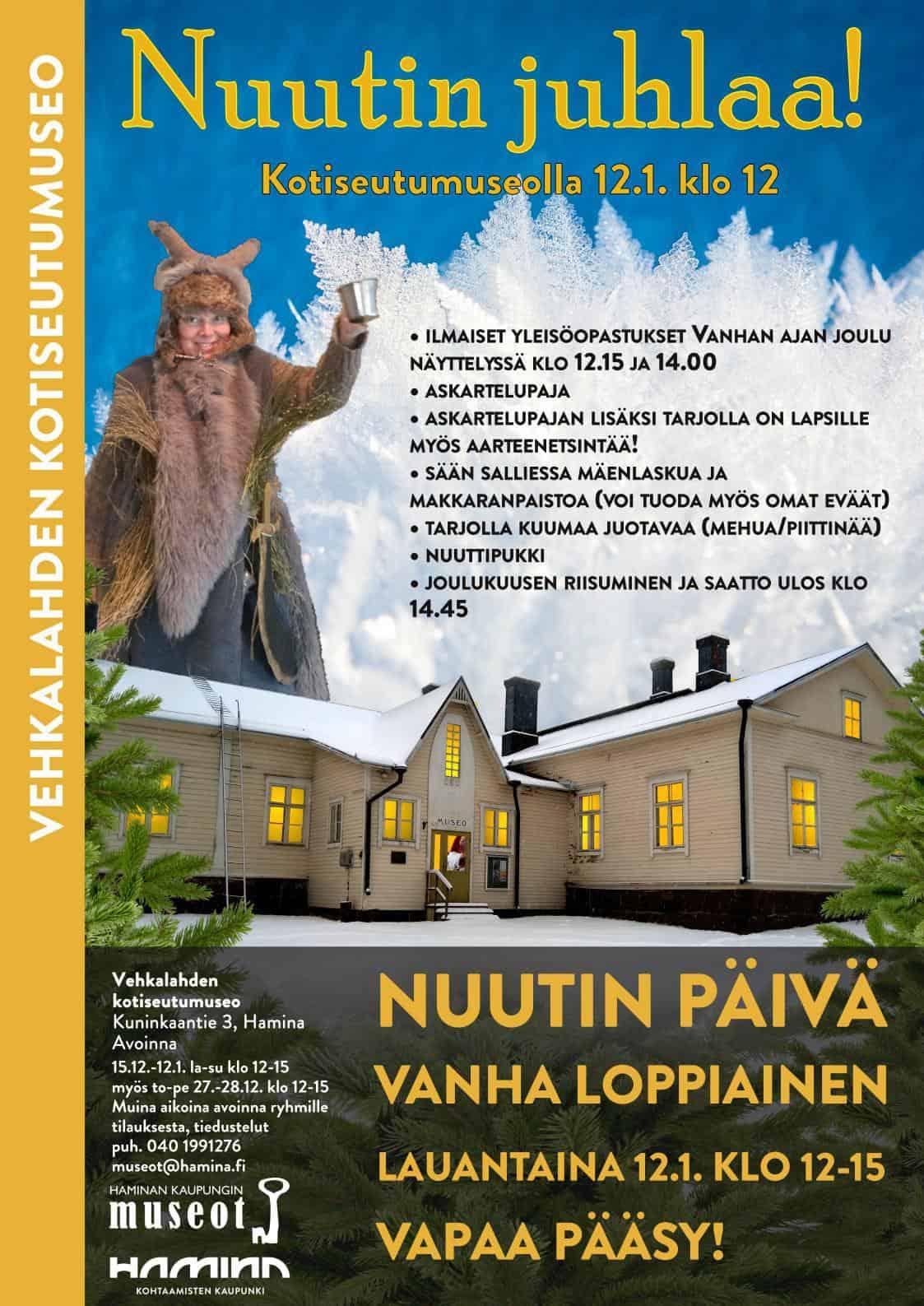 Nuutinpäivä Kotiseutumuseolla @ Vehkalahden Kotiseutumuseo