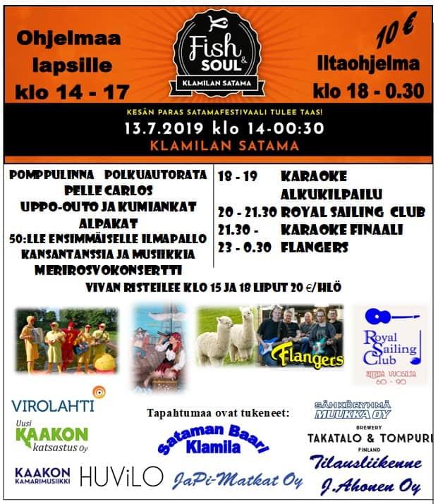 Fish&Soul satamafestivaali 2019 @ Klamilan kalasatama