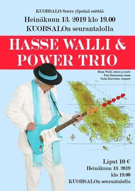 Hasse Walli Power Trio Kuorsalossa @ Kuorsalon seurantalo