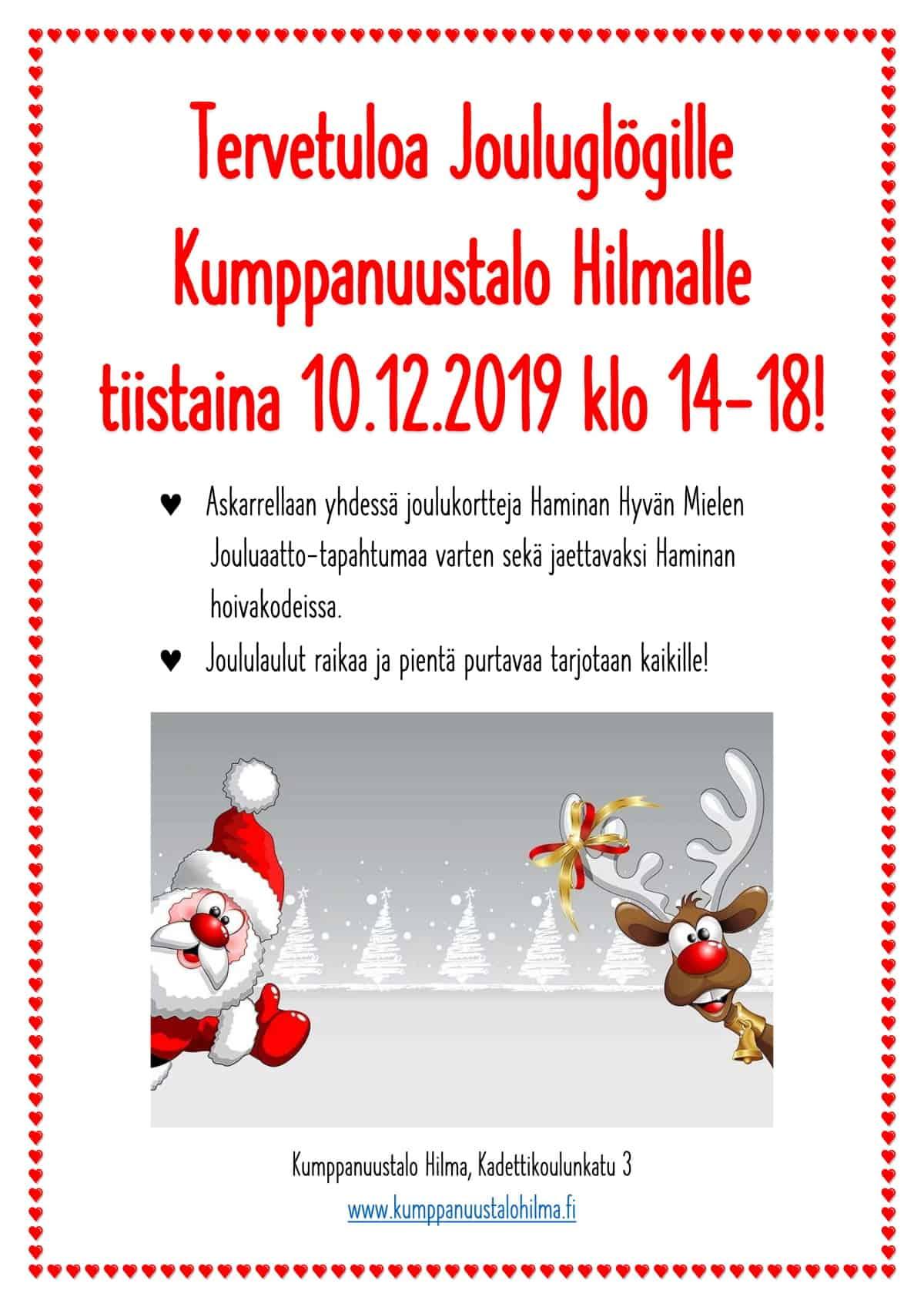 Jouluglögille kumppanuustalo Hilmalle @ Kumppanuustalo Hilma